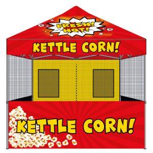 food vendor kettle corn tent